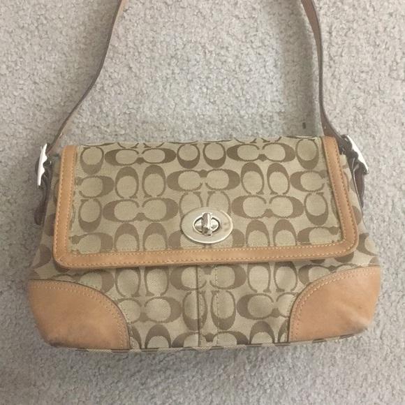 80adddedbc5 Coach Handbags - ✨Coach jacquard Tan brown Crossbody authentic ✨
